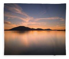 Mountain Sunset II Fleece Blanket