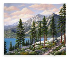 Mountain Trail Fleece Blanket
