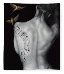 Muse-ic Fleece Blanket