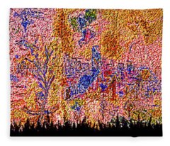 National Bank Plaza Monroe And Dearborn Clark Chagall Mosaic Chi Fleece Blanket