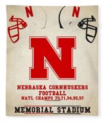 Nebraska Cornhuskers Fleece Blanket