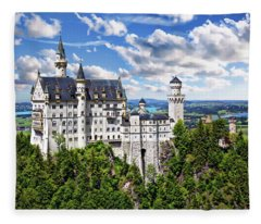 Neuschwanstein Castle Fleece Blanket