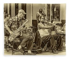 New Orleans Jazz - Sepia Fleece Blanket