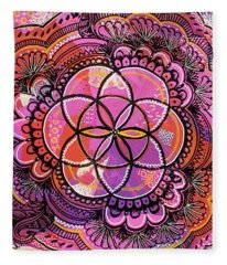 Flower Of Life Fleece Blanket