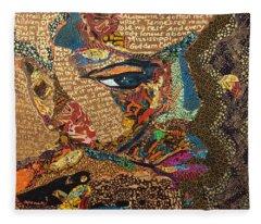 Nina Simone Fragmented- Mississippi Goddamn Fleece Blanket