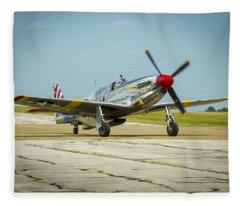 North American Tp-51c Mustang Fleece Blanket