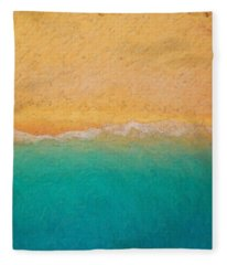 Not Quite Rothko - Surf And Sand Fleece Blanket