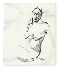 Nude Three Fleece Blanket