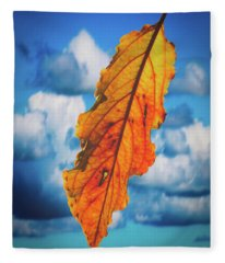 October Leaf B Fine Art Fleece Blanket
