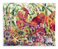 Octopus Garden Fleece Blanket