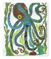 Octopus' Garden Fleece Blanket