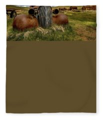 Old Jalopy Bodie State Park Fleece Blanket