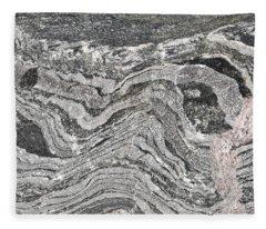 Old Rock Background Fleece Blanket
