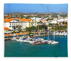 Oranjestad Aruba Fleece Blanket