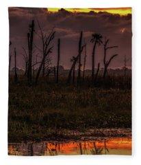 Orlando Wetlands Sunrise Fleece Blanket