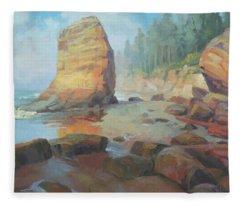 Otter Rock Beach Fleece Blanket