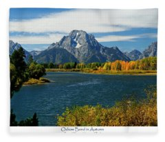 Oxbow Bend In Autumn Fleece Blanket