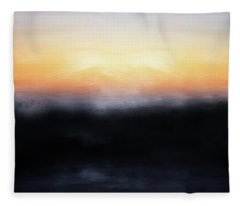 Pacific Sunset- Abstract Art By Linda Woods Fleece Blanket