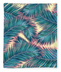 Palm Trees  Fleece Blanket
