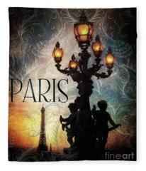 Paris Fleece Blanket