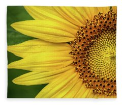 Partial Sunflower Fleece Blanket