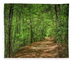 Path Less Travelled - Impressionist Fleece Blanket