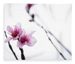 Peach Blossom Fleece Blanket