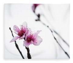 Peach Blossom Fleece Blanket