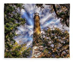 Pensacola Lighthouse Fleece Blanket
