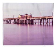 Pier In The Sea, Gulf State Park Pier Fleece Blanket