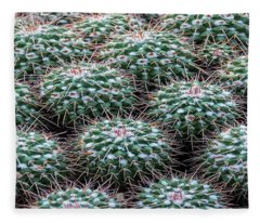 Pincushion Cactus Fleece Blanket