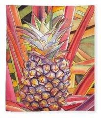 Pineapple Fleece Blanket
