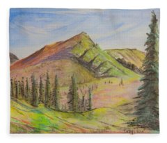 Pines On The Hills Fleece Blanket