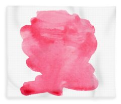 Fleece Blanket featuring the painting Pink by Cortney Herron