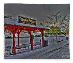 Pittsford Canal Park Fleece Blanket