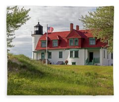 Point Betsie Lighthouse Fleece Blanket