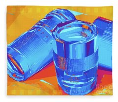 Pop Art Camera Lenses Fleece Blanket