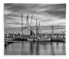Port Royal Shrimp Boats Fleece Blanket