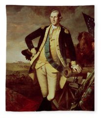 Portrait Of George Washington Fleece Blanket