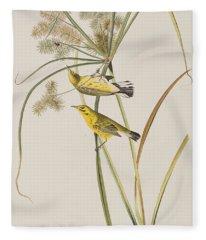 Prairie Warbler Fleece Blanket