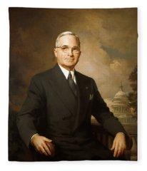 President Harry Truman Fleece Blanket