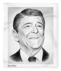 President Ronald Reagan Fleece Blanket