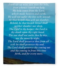 Psalm 121 Fleece Blanket