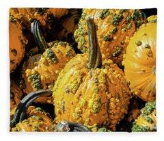 Pumpkins With Warts Fleece Blanket