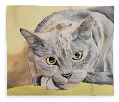 Puss Off Fleece Blanket
