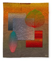 Quiet Sunset At The End Of Northern Summer  Fleece Blanket