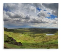 Quiraing And Trotternish - Panorama Fleece Blanket