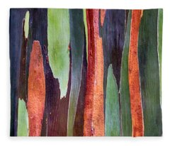 Rainbow Eucalyptus Fleece Blanket
