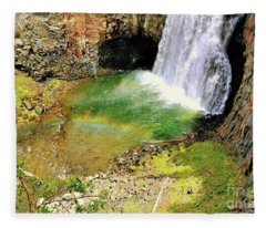 Rainbow Falls 22 Fleece Blanket