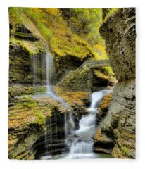 Rainbow Falls  Fleece Blanket